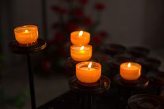 Victims candles Stock Photo