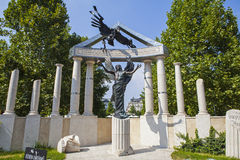 Victims of Nazi Occupation Memorial in Budapest. A memorial dedicated to the victims of Nazi Occupation during the Second World War in Budapest, Hungary Royalty Free Stock Photography