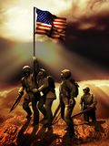Victoire américaine Images libres de droits