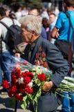 Victoire de défilé à Kiev, Ukraine Photographie stock libre de droits