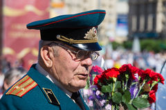 Victoire de défilé à Kiev, Ukraine Photos stock