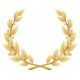 Victoire de guirlande de laurier ou récompense détaillée de qualité, Photographie stock libre de droits