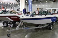 Victoire de yachts pour le salon nautique de l'International 10 à Moscou Russie Photographie stock