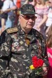 Victoire le 9 mai 2013 Kiev, Ukraine de défilé Image libre de droits