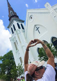 Victoires d'amour ! Photos libres de droits