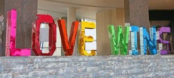 Victoires d'amour Photo libre de droits