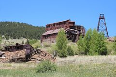 Victor, CO - City of Mines - Vindicator Valley Trail stock image