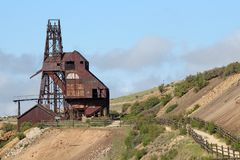 Victor, CO - City of Mines - Vindicator Valley Trail stock photography