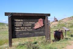 Victor, Co - ville des mines - traînée de vallée de Vindicator photographie stock libre de droits