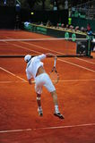 Victor Crivoi (RO) serving - Davis Cup playoffs Royalty Free Stock Photo