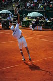 Victor Crivoi serving - Davis Cup playoffs Stock Images
