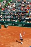 Victor Crivoi vs Prakash Amritraj at Davis Cup 1 stock photos