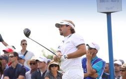 Victor Dubuisson al francese del golf apre 2015 Immagini Stock