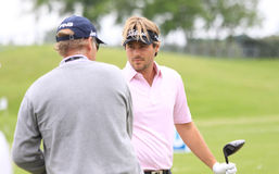 Victor Dubuisson at The French golf Open 2013 Royalty Free Stock Images