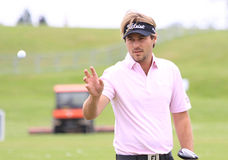 Victor Dubuisson på den franska golfen öppnar 2013 Arkivfoto