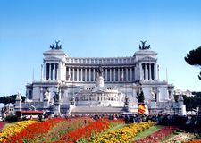 VICTOR EMMANUEL. Monument in Rome Royalty Free Stock Photo