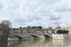 Victor Emmanuel II bridge in Rome. Stock Photography