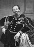 Victor Emmanuel II of Italy. (1820-1878) on engraving from 1873. First king of a united Italy since the 6th century during 1861-1878. Engraved by unknown artist Royalty Free Stock Photography
