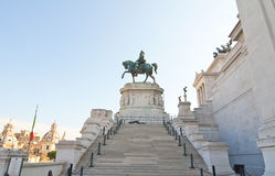 Victor Emmanuel II Monument in Rome Stock Photos