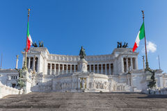 Victor Emmanuel II Monument in Rome, Italy.  Royalty Free Stock Image