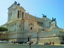 The Victor Emmanuel II Monument In Rome. Italy. Tourist attraction Stock Photo