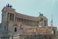The Victor Emmanuel II Monument In Rome. Italy. Tourist attraction Royalty Free Stock Image