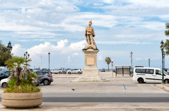 Victor Emmanuel II Monument in Trapani. Stock Photography