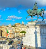 Victor Emmanuel II Rome Italien royaltyfri bild