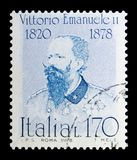 Victor Emmanuel II, serie famoso dos italianos, cerca de 1978 Imagem de Stock Royalty Free