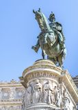 Victor Emmanuel II staty royaltyfri fotografi