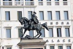 Victor Emmanuel II staty italy venice Arkivbilder