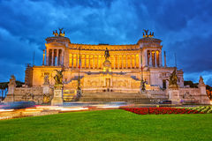 Victor Emmanuel monument in Rome Royalty Free Stock Photo