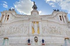 Victor Emmanuel Monument. Rome Italien. Fotografering för Bildbyråer
