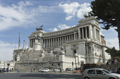 Victor Emmanuel monument side view Royalty Free Stock Image