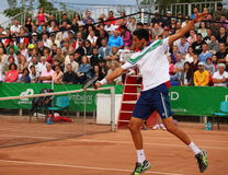 Victor Hanescu in action Royalty Free Stock Photo