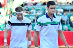 Victor Hanescu and Gilles Muller Royalty Free Stock Image