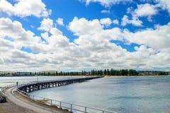 Victor Harbor brygga, södra australisk kust Fotografering för Bildbyråer