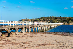 Victor Harbor foot bridge Royalty Free Stock Images