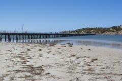 Victor Harbor Jetty, péninsule de Fleurieu, Australie du sud Photos stock