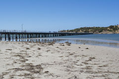 Victor Harbor Jetty, península de Fleurieu, sur de Australia Fotos de archivo