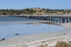 Victor Harbor Jetty, péninsule de Fleurieu, Australie du sud Photo libre de droits
