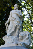 Victor Hugo. Statue of Victor Hugo in Villa Borghese in Rome Royalty Free Stock Photos