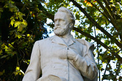 Victor Hugo. Statue of Victor Hugo in Villa Borghese in Rome Stock Images