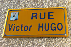 Victor Hugo Street Stock Photo