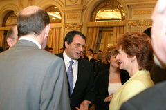 Victor Kevehazi och prinsessa Margareta Royaltyfri Foto