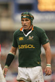 Victor matfield at 2007 england vs springboks Royalty Free Stock Photo