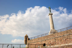 Victor monument on Belgrade fortress Royalty Free Stock Photography