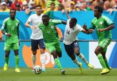 Victor Moses and Blaise Matuidi Coupe du monde 2014 Stock Photos