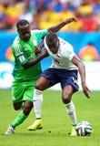 Victor Moses and Blaise Matuidi Coupe du monde 2014 Royalty Free Stock Photo