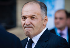 Victor Pinchuk at the opening of the 11th Annual Meeting of Yalt Stock Photography